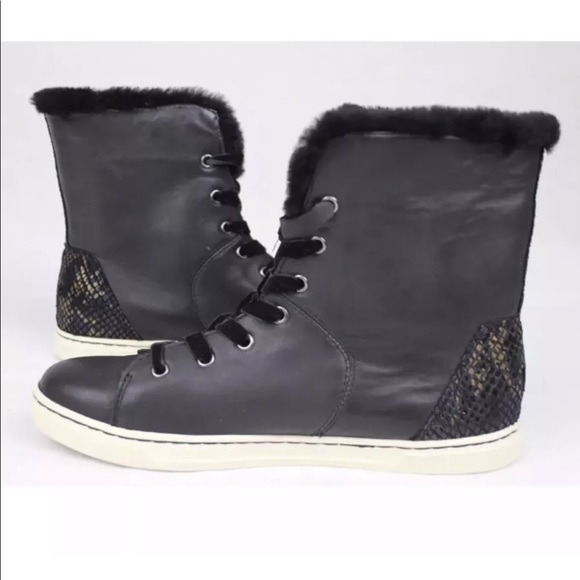 52173726613 UGG Croft Exotic Velvet Leather Ankle Sneakers NEW